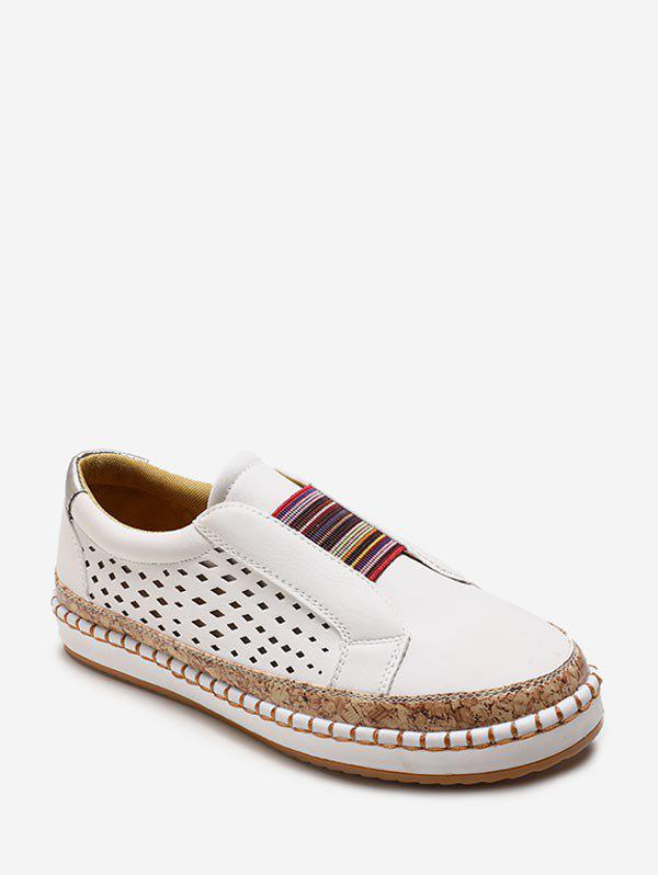 Outfit Colorful Band Slip On Flat Shoes