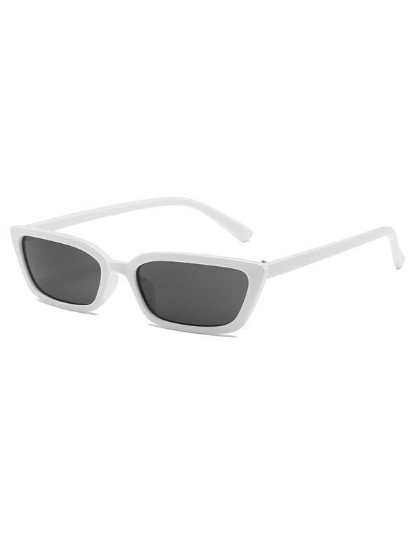 Lunettes de Soleil Vintages Rectangle Etroite Anti-UV