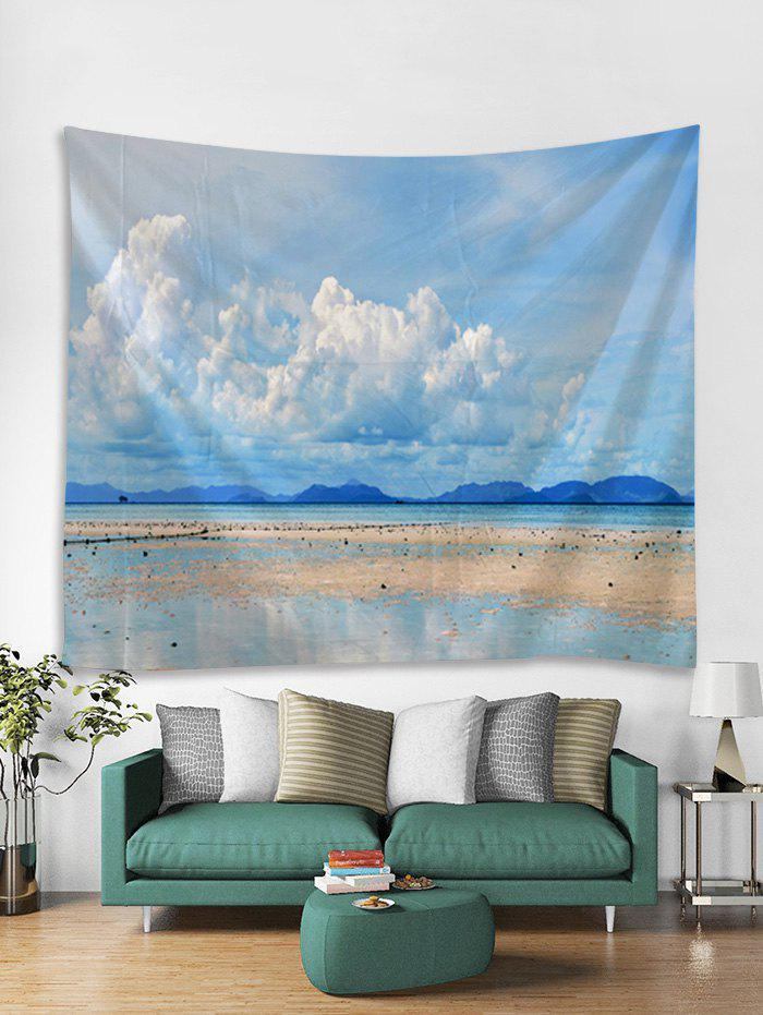 Fashion Clear Sky Beach Print Tapestry Wall Hanging Art Decoration