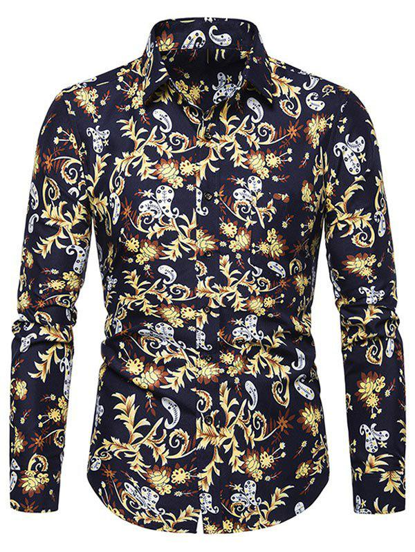 Buy Paisley Pattern Pocket Design Casual Shirt