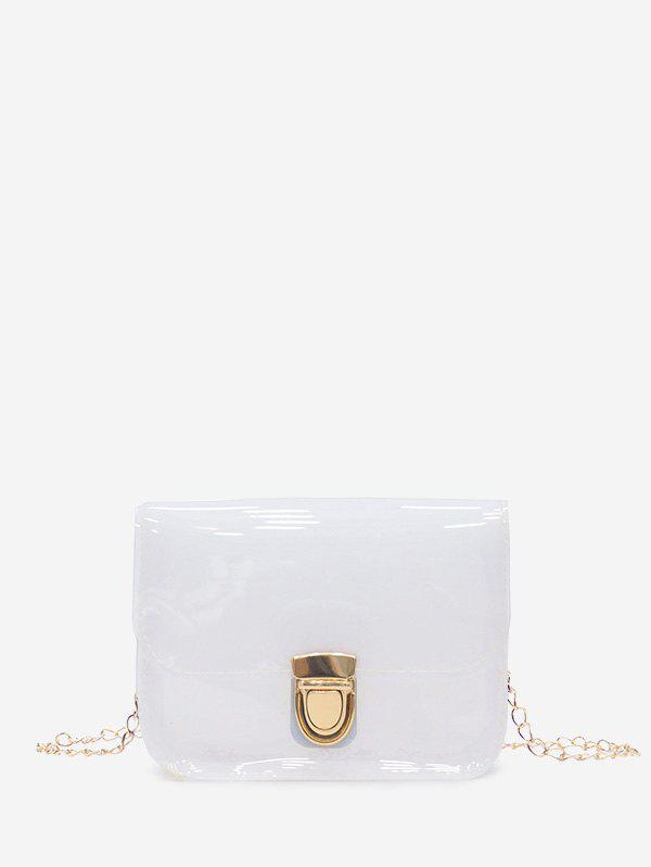 Outfit Transparent Chain Small Square Shoulder Bag