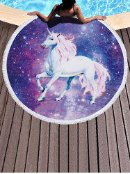 Galaxy Unicorn Pattern Fringed Beach Throw -