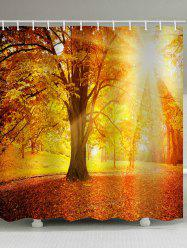Sunset Maple Forest Print Waterproof Bathroom Shower Curtain -