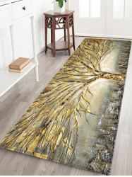 Abstract Tree Pattern Water Absorption Area Rug -