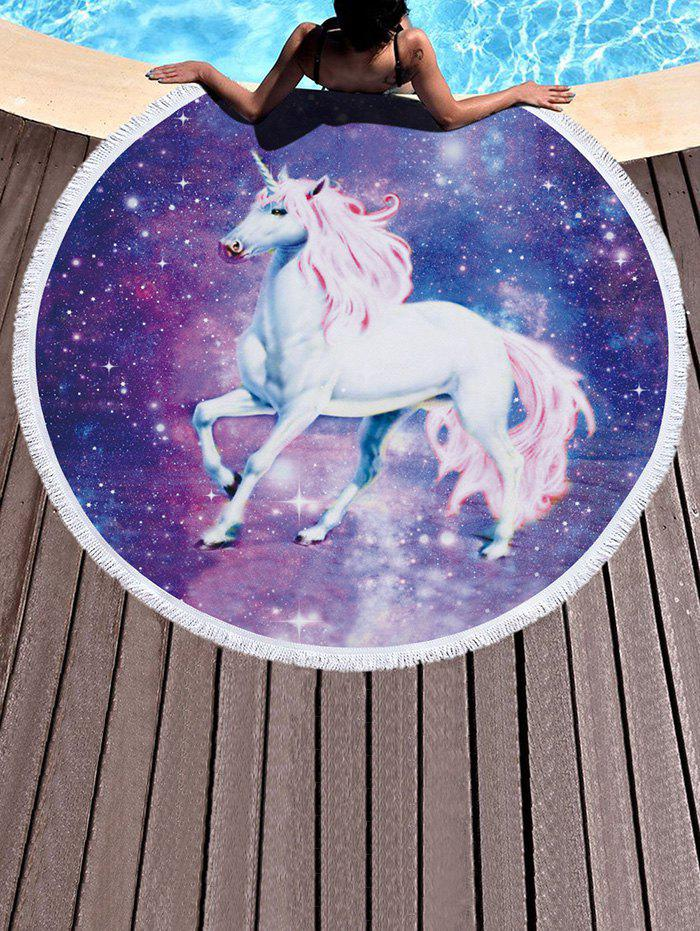 Best Galaxy Unicorn Pattern Fringed Beach Throw