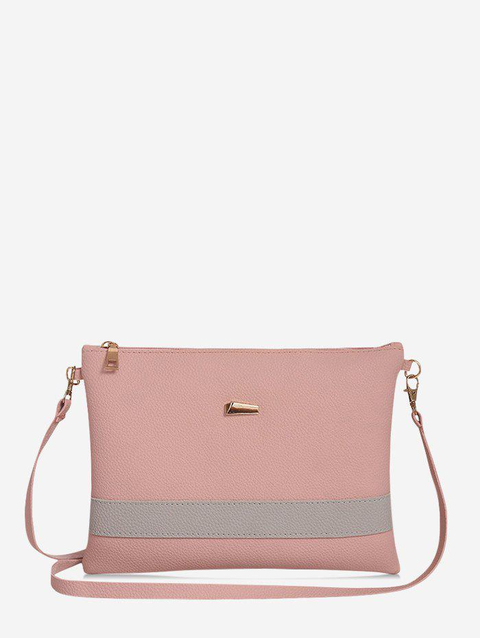 Sac à Bandoulière Simple en PU Rose