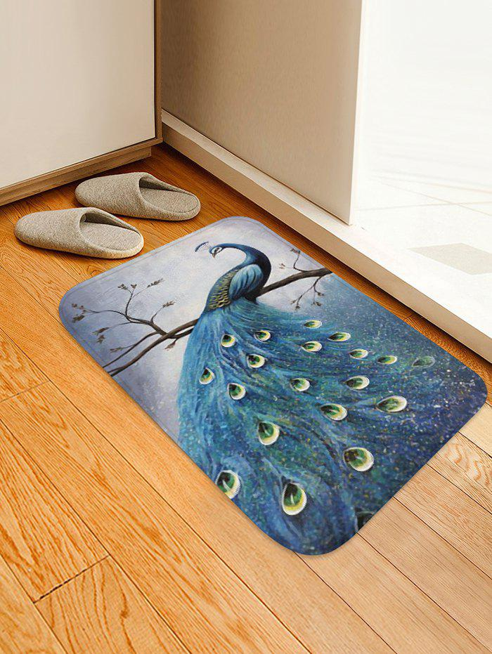 Sale Peacock Print Design Floor Mat