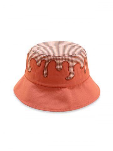 Plaid Houndstooth Patchwork Bucket Hat