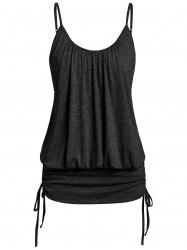 Plus Size Cami Ruched Space Dye Tank Top -