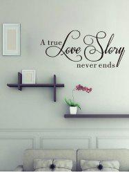 Creative Love Story Print Removable Wall Sticker -