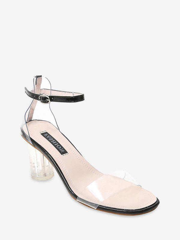Shop Crystal Heel High Heel Transparent Sandals