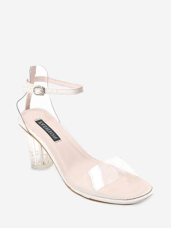 Cheap Crystal Heel High Heel Transparent Sandals