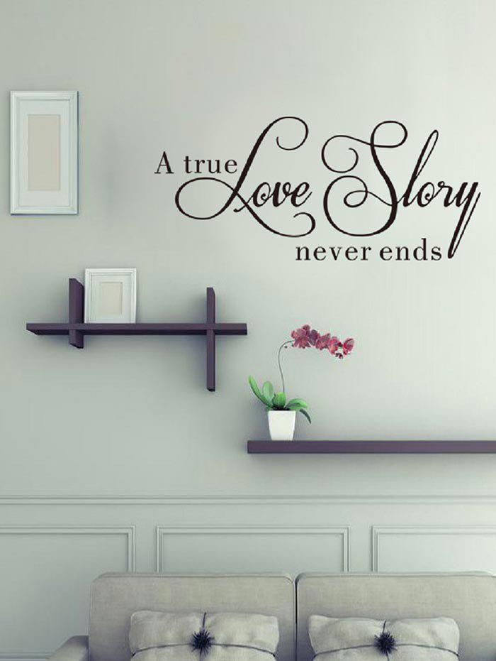 New Creative Love Story Print Removable Wall Sticker