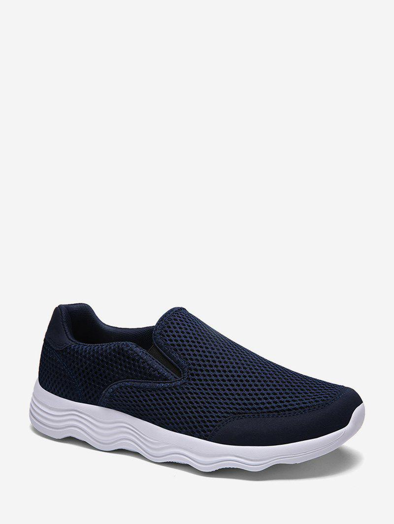 Hot Solid Mesh Breathable Slip On Shoes