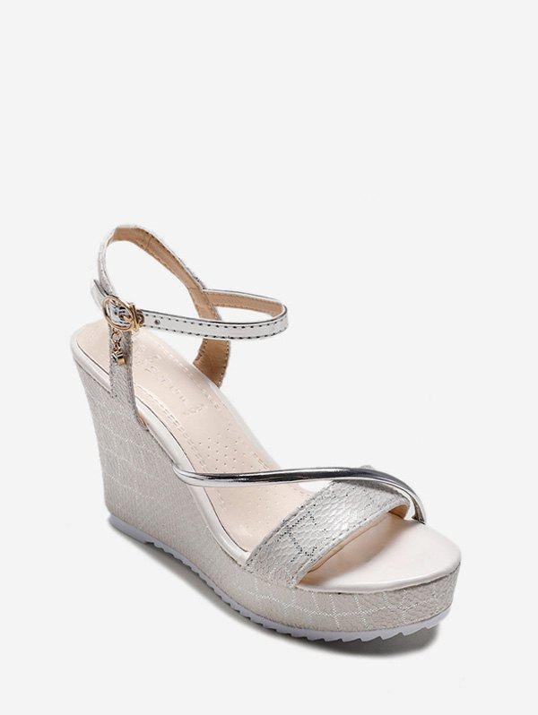 Shops Animal Embossed PU Wedge Heel Sandals