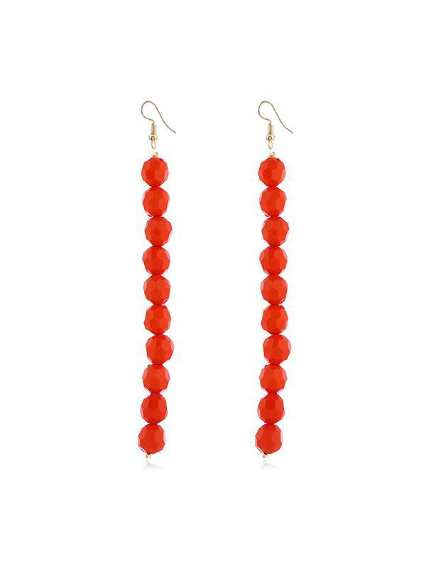 Hot Beaded Brief Long Drop Earrings