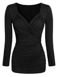 Ruched Sweetheart Slim T-shirt -