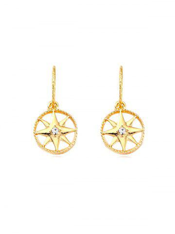 Rhinestone Star Round Drop Earrings