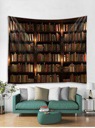 Bookcase Print Tapestry Wall Hanging Art Decoration -