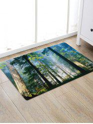 Forest Mist Pattern Water Absorption Area Rug -