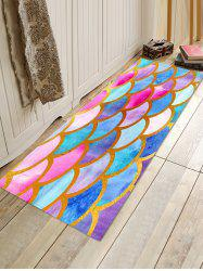 Fish Scale Colorful Printed Floor Rug -