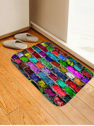 Colorful Brick Wall Patterned Water Absorption Area Rug -