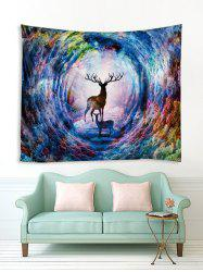 Colorful Forest Elk Print Tapestry Wall Hanging Art Decoration -