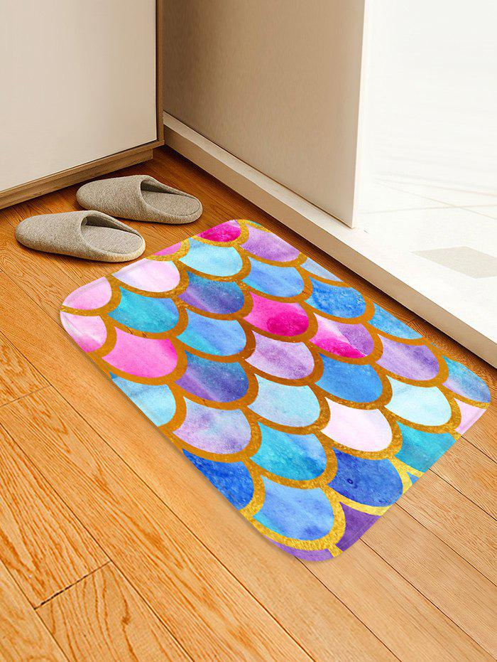 Cheap Fish Scale Colorful Printed Floor Rug