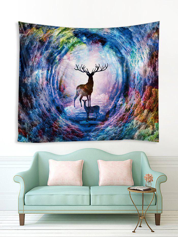 Affordable Colorful Forest Elk Print Tapestry Wall Hanging Art Decoration