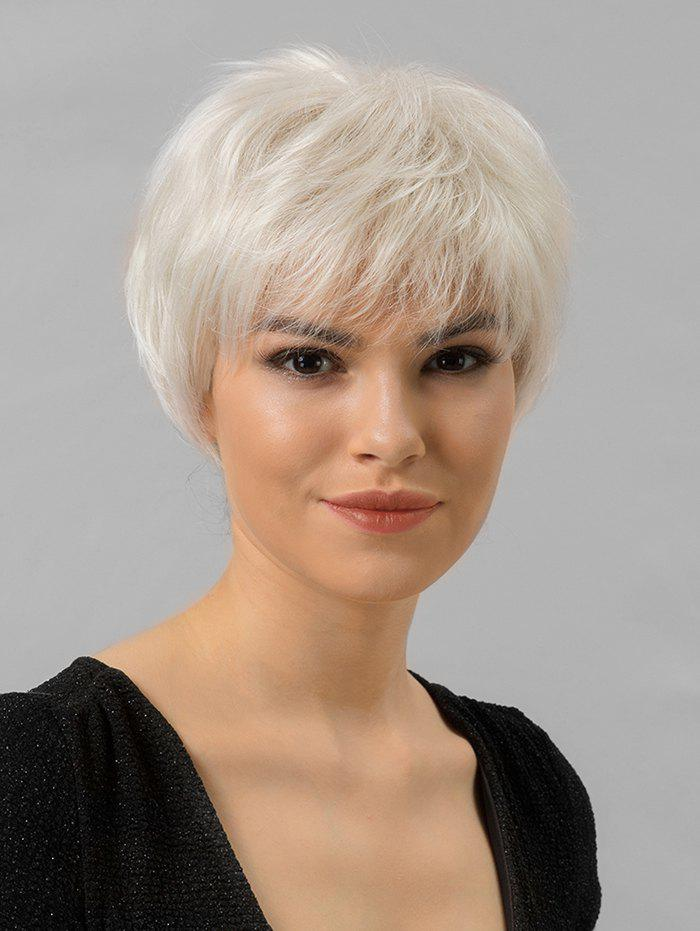 Store Solid Human Hair Straight Short Wig