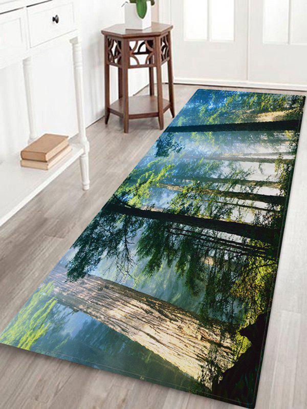 Shops Forest Mist Pattern Water Absorption Area Rug