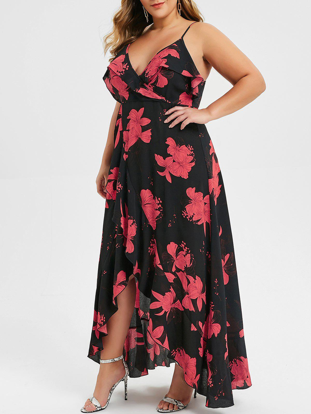 Outfit Plus Size Spaghetti Strap High Waist Slit Dress