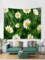 Leaf Daisy Floral 3D Print Wall Tapestry -