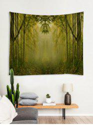 Dreamy Forest Pattern Printed Tapestry -