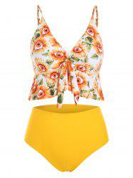 Sunflower Knotted Padded Tankini Swimsuit -