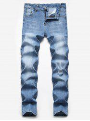 Ripped Scratch Casual Pencil Jeans -