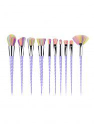 10Pcs Spiral Powder Makeup Brushes -