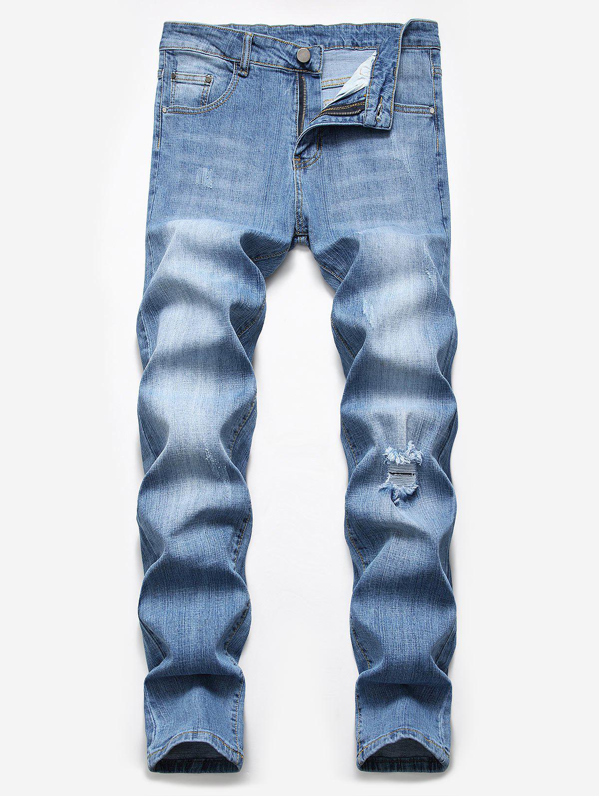 Outfits Ripped Scratch Casual Pencil Jeans