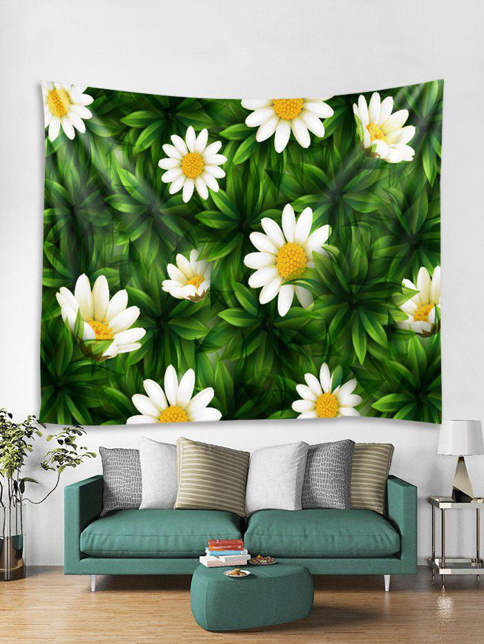Fashion Leaf Daisy Floral 3D Print Wall Tapestry