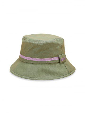 Color Block Stripe Cotton Bucket Hat