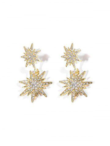 Rhinestone Inlaid Star Design Earrings