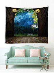 Arched Door Forest Sky 3D Print Wall Tapestry -
