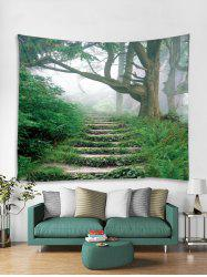 Step Forest 3D Print Home Wall Tapestry -
