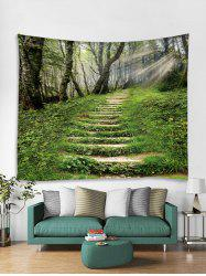 Forest Step Sunshine 3D Print Wall Tapestry -