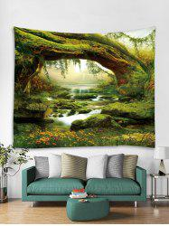 Stream Forest 3D Print Wall Tapestry -