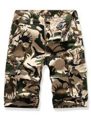 Casual Camouflage Printed Cargo Shorts -