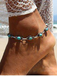 Bohemian Beach Turquoise Chain Anklet -