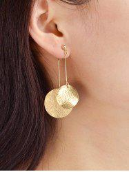 Round Disc Decoration Alloy Earrings -