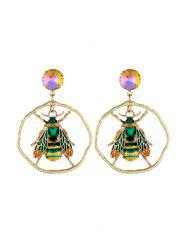 Insect Shape Faux Gem Decoration Earrings -