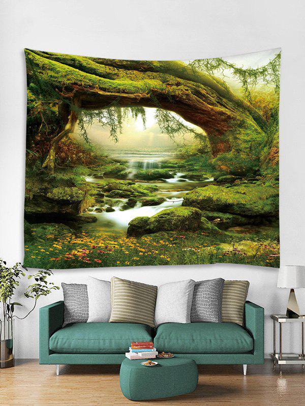 Shop Stream Forest 3D Print Wall Tapestry